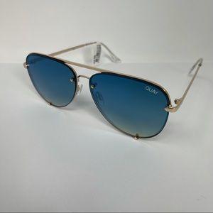 Quay High Key Rimless Aviator Sunglasses